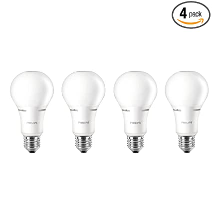 Philips LED Dimmable A21 Soft White Light Bulb With Warm Glow Effect  1100 Lumen,