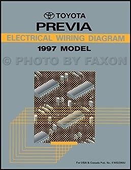 1997 toyota previa wiring diagram manual original toyota amazon rh amazon com toyota previa stereo wiring diagram 1995 toyota previa radio wiring diagram