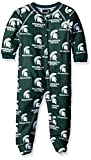NCAA by Outerstuff NCAA Michigan State Spartans Newborn & Infant Raglan Zip Up Coverall, Hunter Green, 24 Months