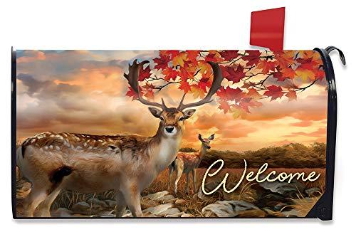 Harvest Mailbox - Briarwood Lane Harvest Deer Autumn Magnetic Mailbox Cover Buck and Doe Standard