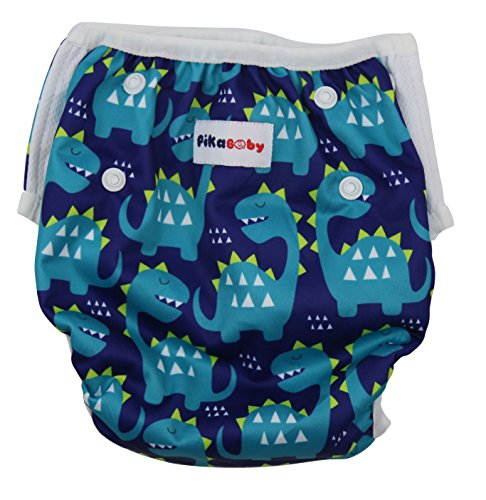 Inflatable Blueberry Suit (Baby swim diapers - Premium, stylish, Adjustable reusable swimming suit diapers shirt for kids, boys and girls (dinosaurs))