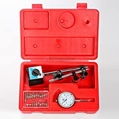 """Dial Indicator, Magnetic Base & Point Precision Inspection Set Complete with hard plastic case with 2"""" dial face and lug back."""