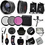 Essential 58mm Accessory Kit for CANON EOS 80D, 70D, EOS 60D, EOS Rebel T6, T6i, T5, T5i, T4i, T3, T3i, T2i, XTi, 1200D, 1100D, 700D 650D 600D 550D EOS M DSLR Cameras