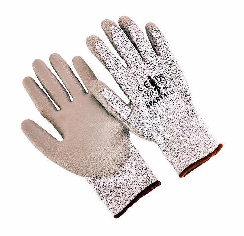 Seattle Glove SPARTACUS-L Hppe Liner with PU Palm Coating Glove, Large - Pack of 12 by Seattle Glove (Image #1)