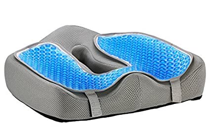 Ziraki Memory Foam Seat / Chair Cushion Orthopedic Coccyx Support Pillow 4  In 1 W/