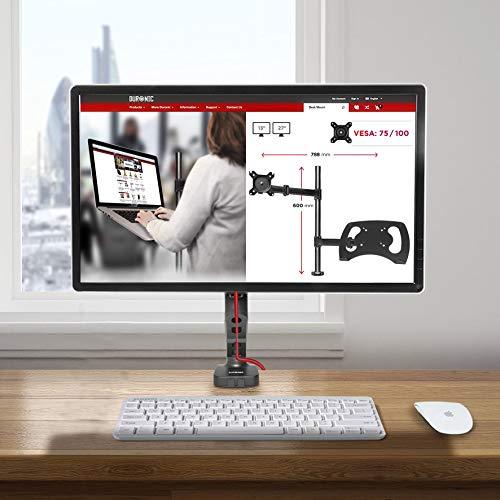 Duronic DMDC5X1 Soporte Monitor Mesa con Resorte de Gas para 1 Pantalla de Ordenador con Cabezal Rotativo e Inclinable: Amazon.es: Oficina y papelería