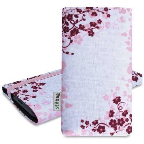 Stilbag Etui 'MIKA' pour Apple iPhone 5 - Dessin: Rose Flowers