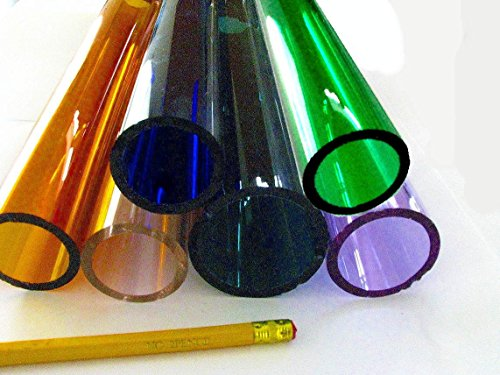 Devardi Glass COE 33 Boro Tubing, 6 Assorted LARGE Borosilicate 12