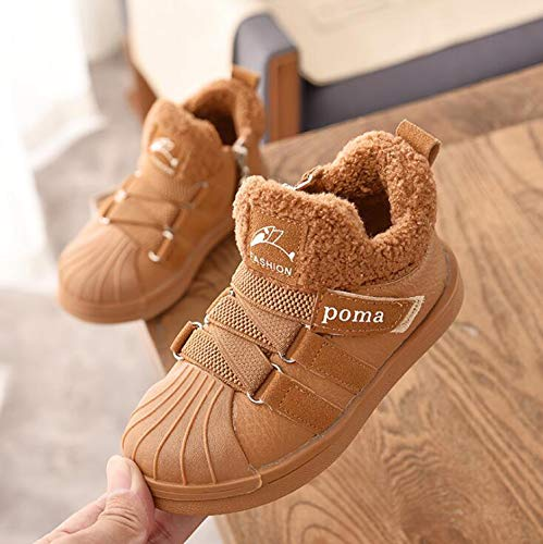 2018 Winter Baby Boy Girl Snow Boots Warm Plush Outdoor Kids Boots Children's Sneakers Non-Slip Comfortable Cotton -