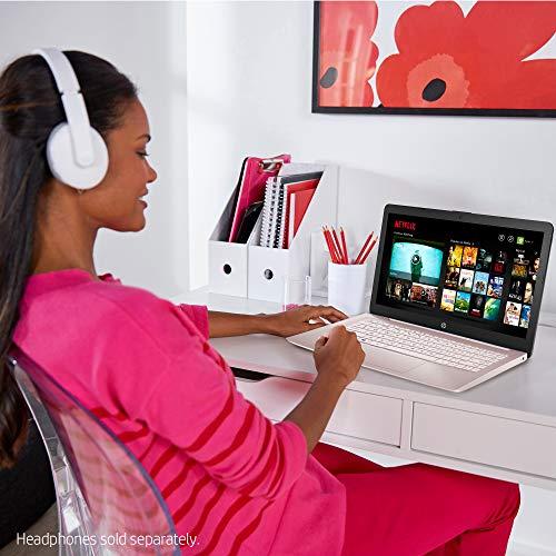 "Flagship HP Stream 14 Laptop Computer 14"" HD SVA Micro Edge Display Intel Celeron N4000 Processor 4GB DDR4 64GB eMMC HDMI WiFi Webcam Office 365 Win 10 (Pink) + iCarp Wireless Mouse"