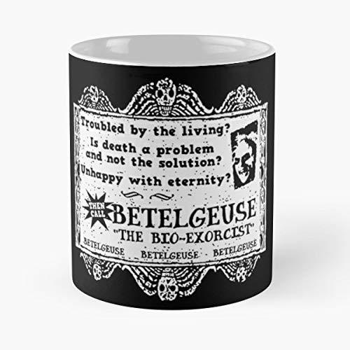 Beetlejuice Betelgeuse Tim Burton Goth - Coffee Mugs Best Gift Unique Ceramic Novelty Cup ()
