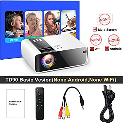 WHLDCD Proyector Mini proyector HD TD90 Native 1280 x 720P LED ...