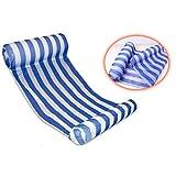 Yayan Premium Swimming Pool Float Hammock, Inflatable Swimming Pools Lounger, Luxury Swimming Pool and Ocean Lilo - Blue
