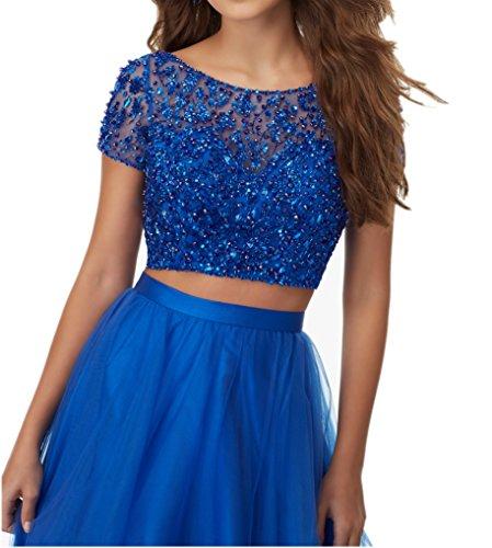 Partykleider Jugendweihe Royal Kurzarm Kleider mia La Abendkleider 2018 Blau Pailletten Festlichkleider Braut Kleider Neu Lang 4qfwwXO10