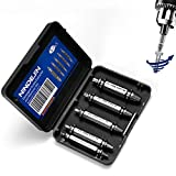 NINDEJIN Damaged Screw Extractor Set, Broken Screws Remover Easy Out Stripped Screw and Damaged Bolt Extractor (5PCS)