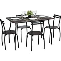 Coavas 5pcs Dining Table Set Kitchen Rectangle Dining...