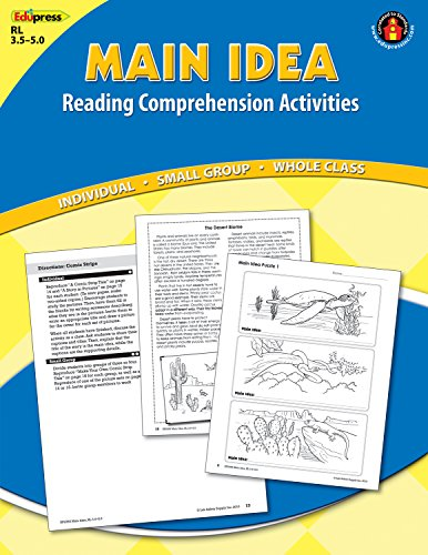 Reading Comprehension Activity Book Center: Main Idea Blue Level 3.5-5.0