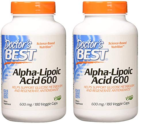 Doctor's Best Alpha-Lipoic Acid, Non-GMO, Gluten Free, Vegan, Soy Free, Helps Maintain Blood Sugar Levels (360 Count)