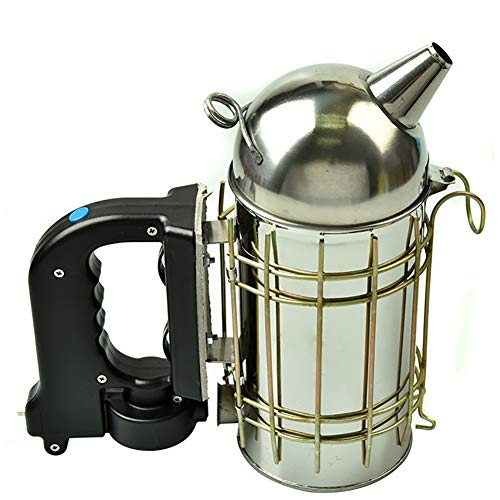 TUDIO Electric Bee Hive Smoker-Stainless Steel Smoker with Heat Shield ()