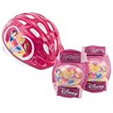 Disney Princess Micro Bicycle Helmet and Protective Pad Value Pack (Toddler)