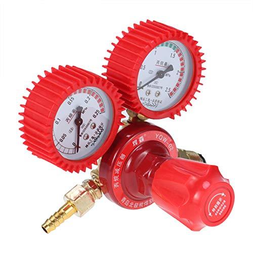 (OUNONA CO2 High Pressure Regulator Gauge Gas Bottle Regulator Carbon Dioxide Welding Pressure Reducer Dual Gauge Mixed Gas Regulator (Red))