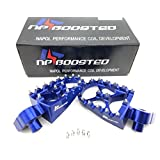 CNC CUSTOM BILLET WIDE FAT FOOT PEGS YAMAHA YZ85 YZ125 YZ250 YZ250F YZ450F BLUE