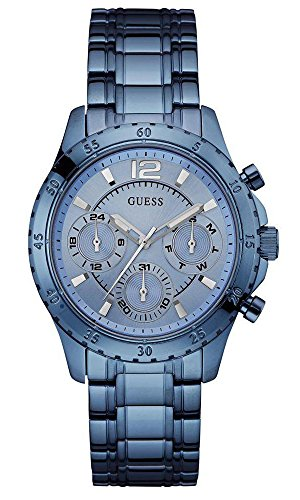 Dial Watch Multifunction (GUESS Women's U0704L2 Iconic Sky Blue Watch with Multi-Function Dial)