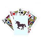 beatChong Black Silhouette Running Posture Unicorns Poker Playing Card Tabletop Board Game Gift