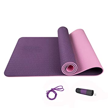 Amazon.com: DLJFU - Yoga mats Yoga Mat Extra Thick with ...