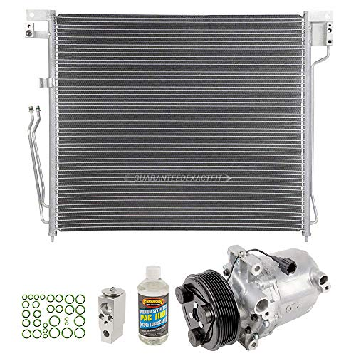 (AC Compressor w/A/C Condenser Repair Kit For Nissan Frontier Suzuki Equator - BuyAutoParts 60-80530R6)