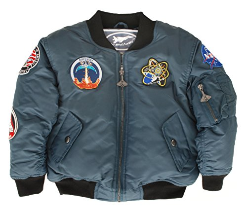 (Up and Away Boys' Space Shuttle Jacket 12 Blue)