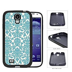Teal Damask Wallpaper Pattern Rubber Silicone TPU Cell Phone Case Samsung Galaxy S4 SIV I9500