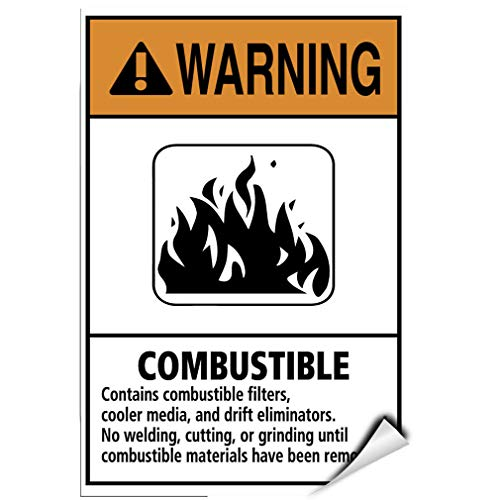Warning Combustible No Welding Cutting Grinding Label Decal Sticker 8