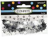 Amscan (Amsdd) Party Fun Decorations Mini Star Confetti Pack (Piece), Silver, 24