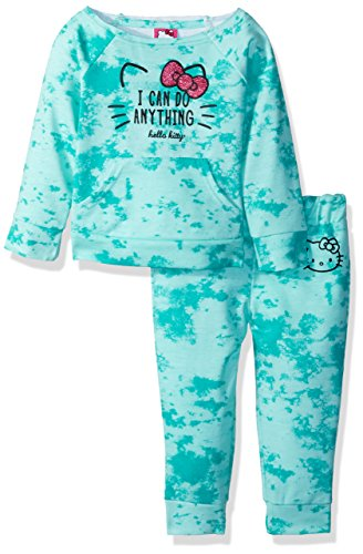 Hello Kitty Baby Girls' Jogger Pant Set with Crew Neck Top, Mint, 24M