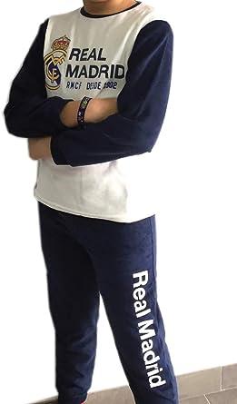 Pijama Real Madrid adulto invierno tejido terciopelo - L