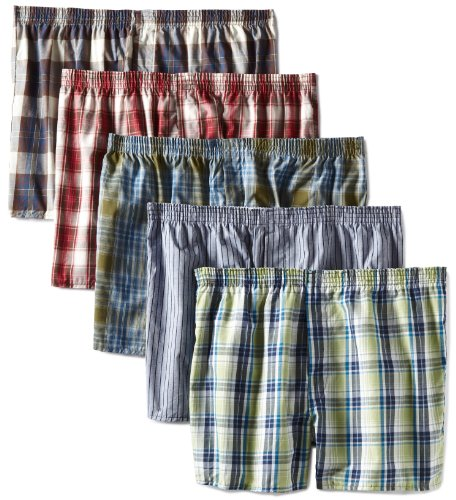 Fruit of the Loom Mens Assorted  Low Rise Boxer - Colors May Vary(Pack of 5)