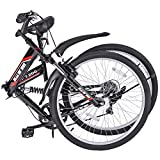 "ORKAN 26"" Folding Bike MTB Shimano Hybrid Suspension 7 Speed Mountain Bike"