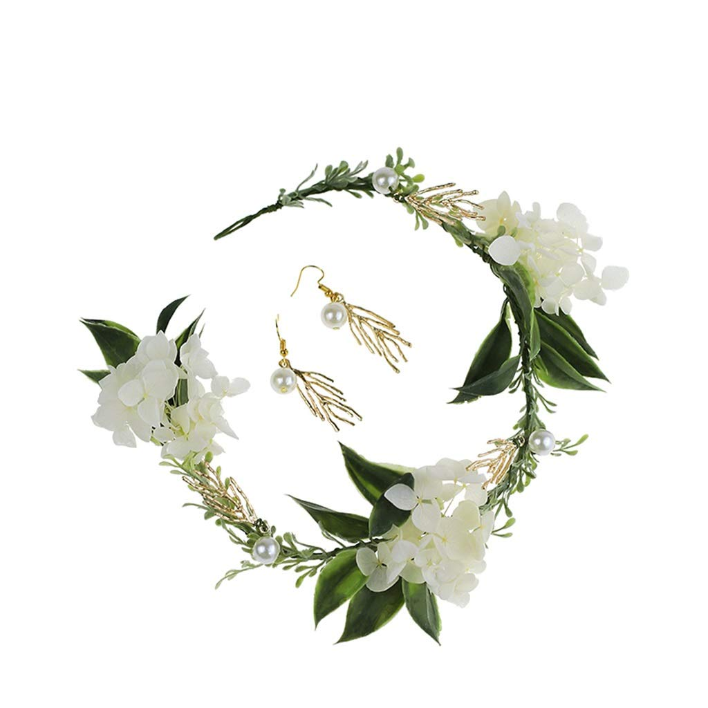 Wreath Flower Bride Hair Accessories Beautiful Hand-Made Garland Beach Holiday Garden Wedding Wedding Jewelry