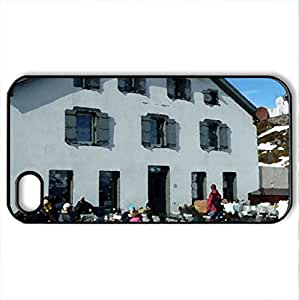 Berghaus Niesen - Case Cover for iPhone 4 and 4s (Houses Series, Watercolor style, Black)