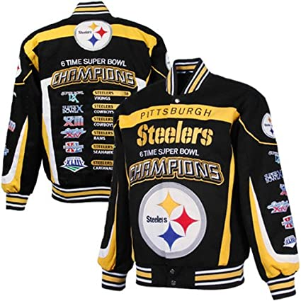 timeless design e5c2b 5a8a9 Steelers Nfl Canvas Jackets Outerwear Amazon Commemorative ...