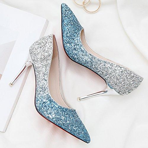 con Il cristallo la scarpe gradiente scarpe di scarpe matrimonio matrimonio signora Rxq6BwTF