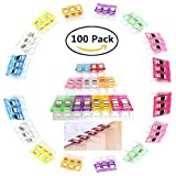 All Purpose Craft Clips Sewing Clips for Quilting Supplies quilt clips Paper Clips blinder clips wonder clips Assorted Colors 100 Pack
