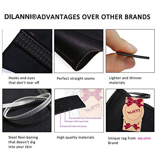 Dilanni - corsé modelador de encaje transpirable para mujer, elástico, varias tallas disponibles, con aros de acero Beige Agujero