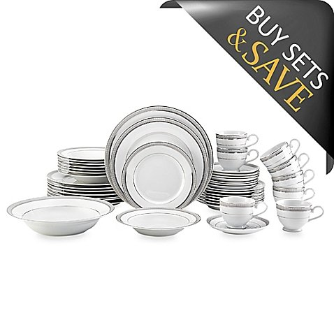Dinnerware Set White Porcelain With An Intricate 42-piece