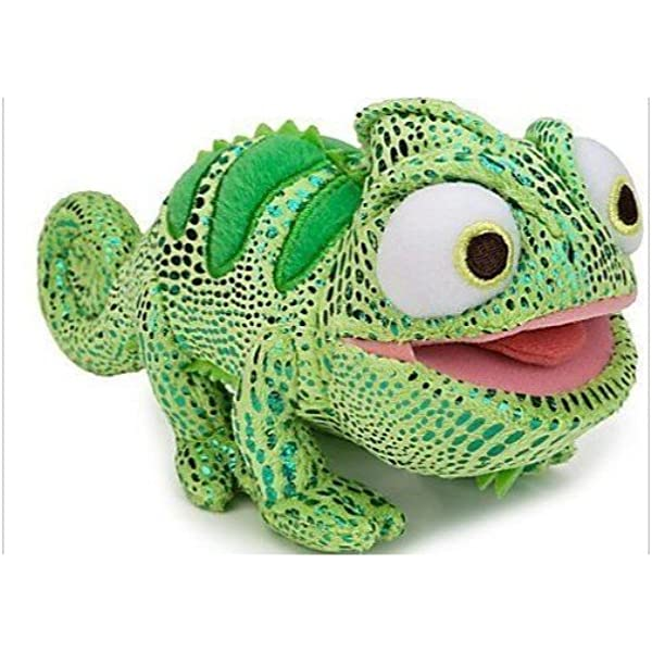 Amazon Com Disney Tangled 6 Inch Plush Figure Chameleon Pascal Green Toys Games