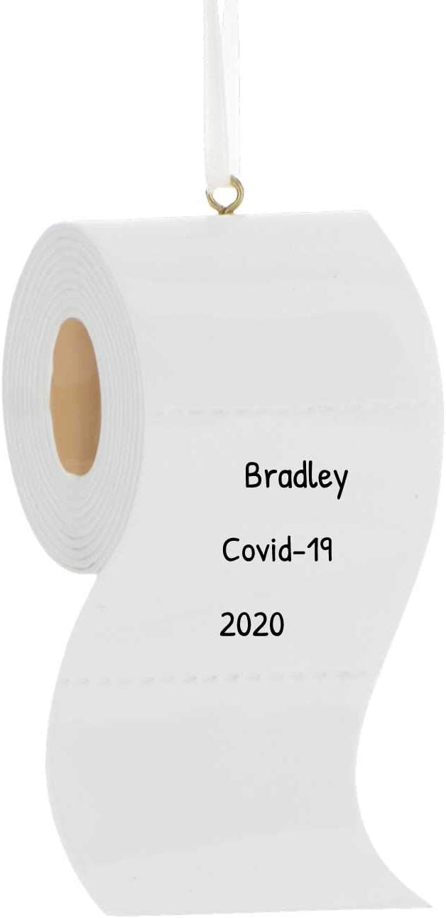 Corona Ornament 2020 Pandemic Quarantine Kit with Toilet Paper Customizable with Family Names /& Message Christmas Decorating Set Gift