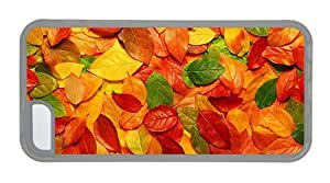 Hipster customize iPhone 5C covers Autumn Leaves Background Transparent for Apple iPhone 5C