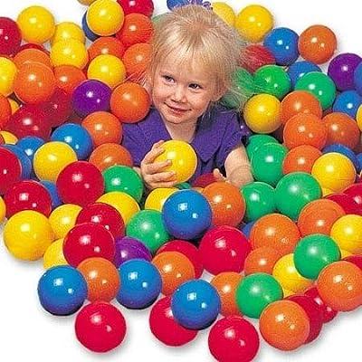 50 Balles en plastique 6 cm multicolores pour tente et piscine | Juets enfants et bébés by RIVENBERT