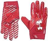 Under Armour Men's Spotlight Football Gloves,Red (601)/White, Small/Medium